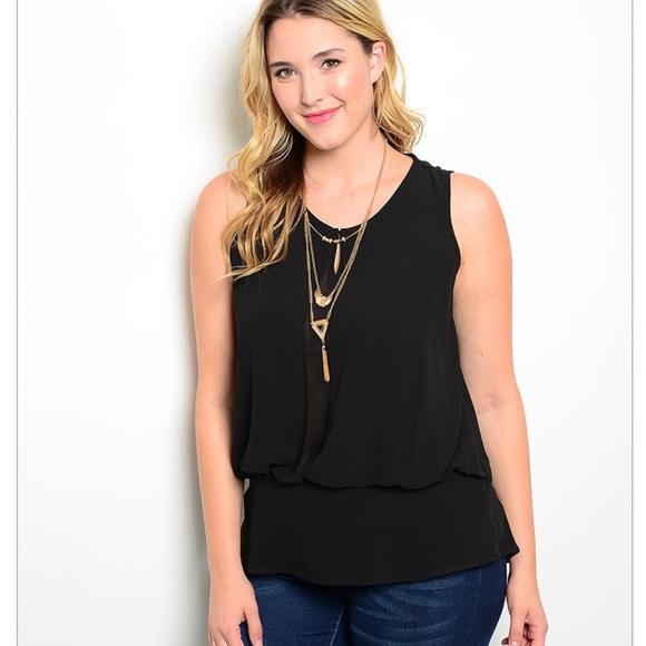 2334d5559af31 🎉Plus Size Sheer Black Top. Boutique. Zenobia